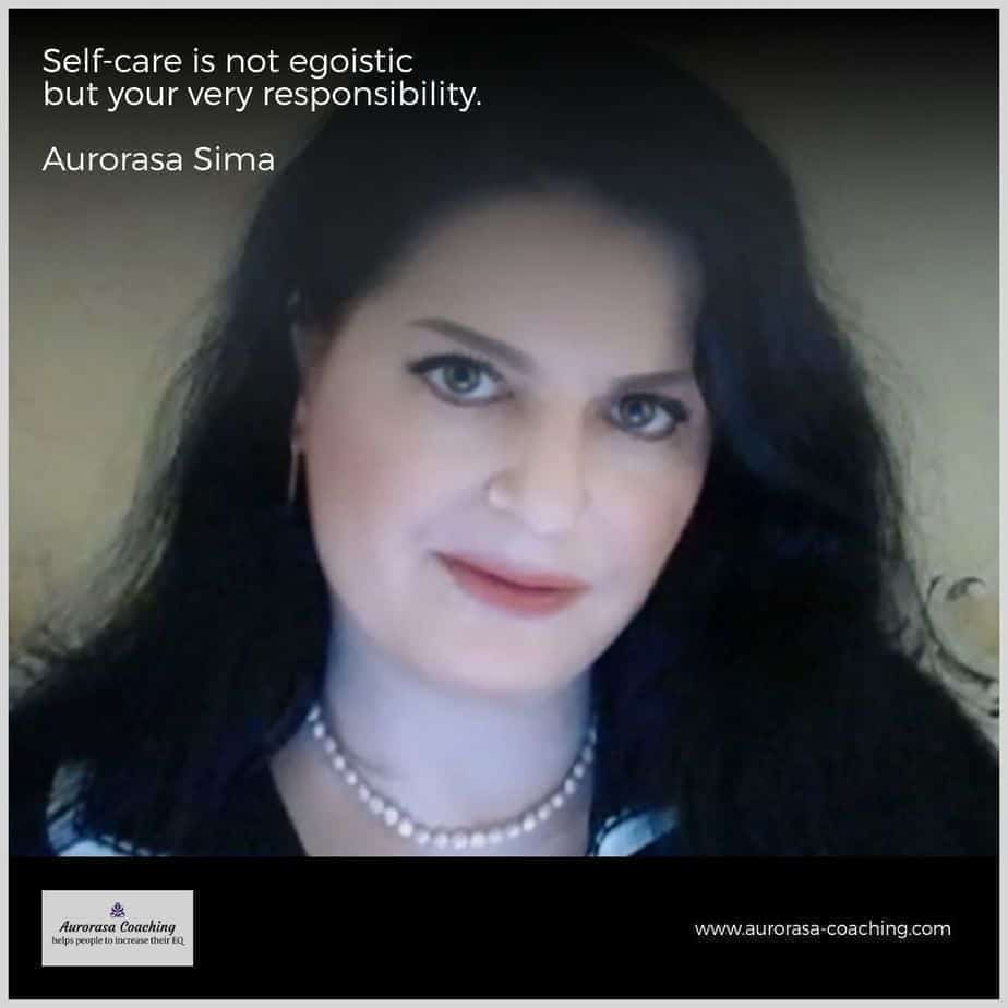 Self-preservation is your very responsiblity - Aurorasa Sima