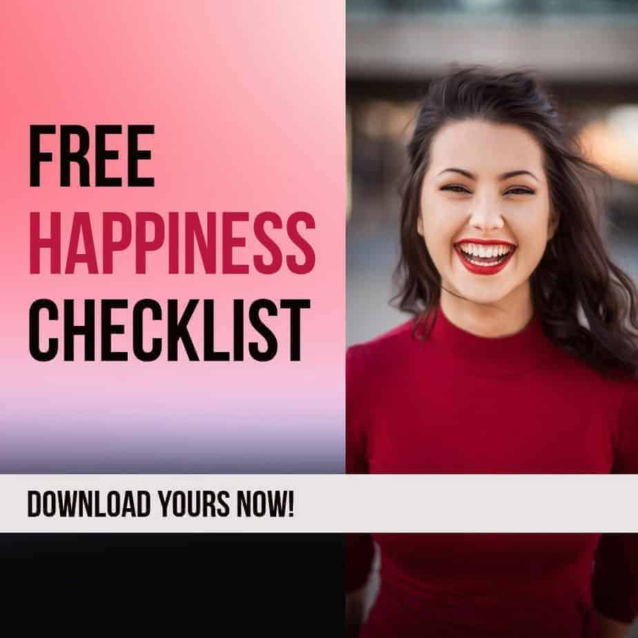 free happiness checklist without logo